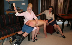 Bare spank witness