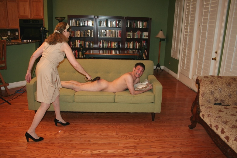 Belt husband spank their who wife